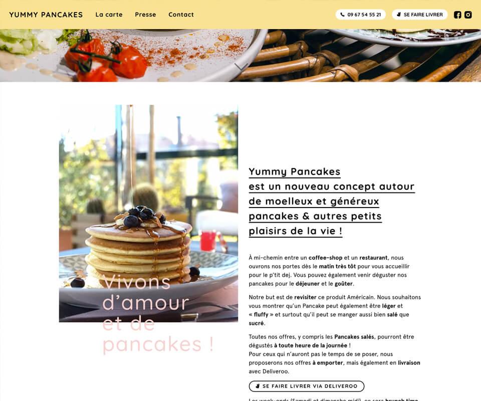 Site internet d'un restaurant à Lyon