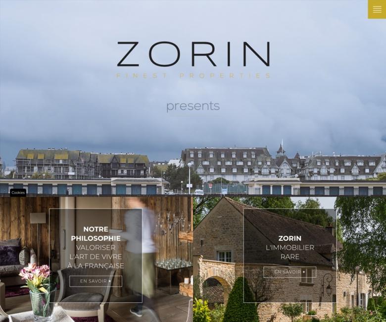 Site internet immobilier de luxe