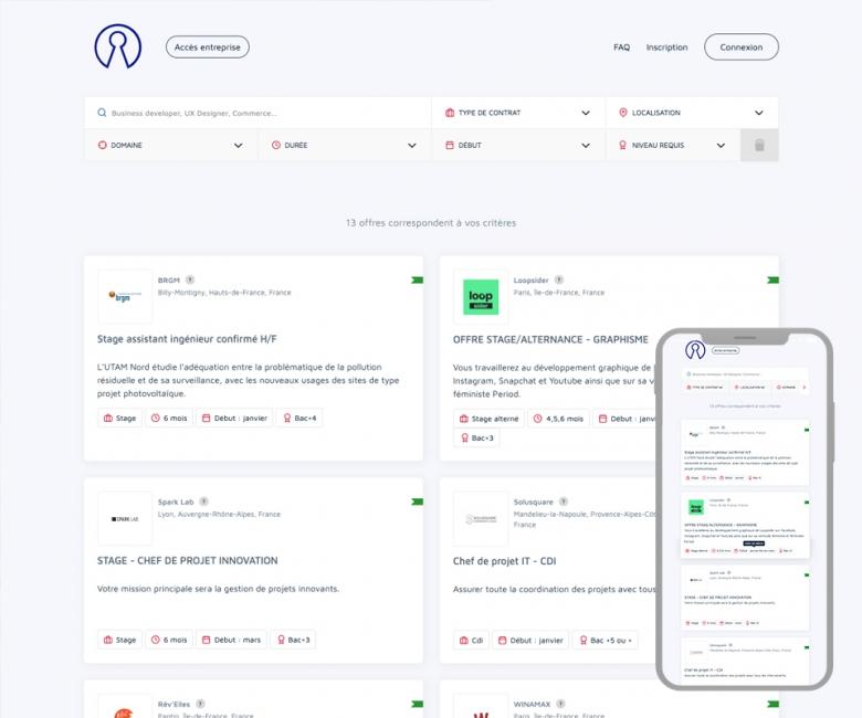Site internet plateforme emploi