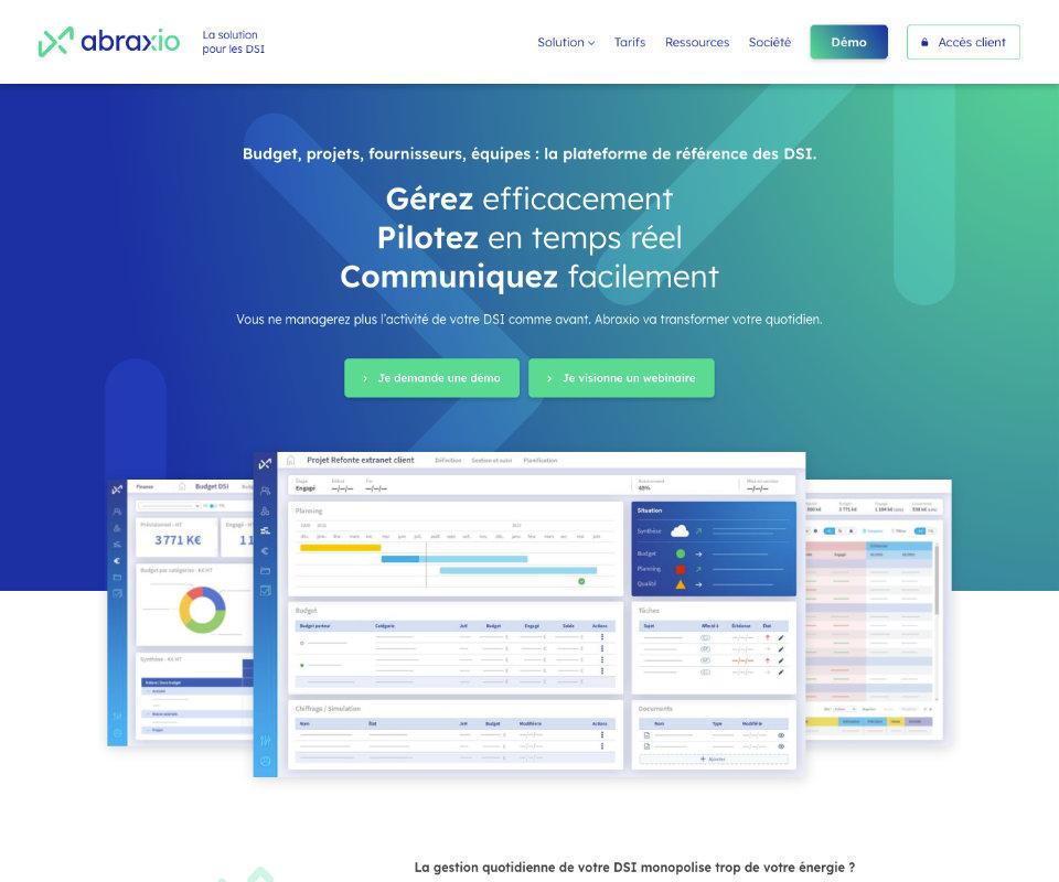 Développement site internet Abraxio